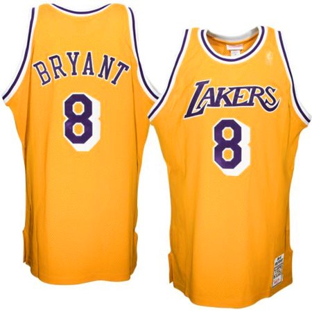 best service 510f9 cbf9e Mitchell & Ness Kobe Bryant Los Angeles Lakers 1996-1997 Hardwood Classics  Throwback Authentic Home Jersey - Gold-60