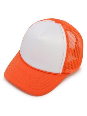 DALIX Infant Trucker Hat Baby Cap Tiny Extra Small Girls Boys in Orange White