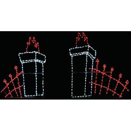 Brite Ideas Cemetery Fence LED Lighted Display