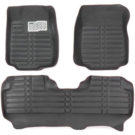 Waterproof Car Floor Cover Leather Front&Rear Liner Mat Black For Honda CRV (Genuine Honda 08p13 T5a 110 Floor Mat)