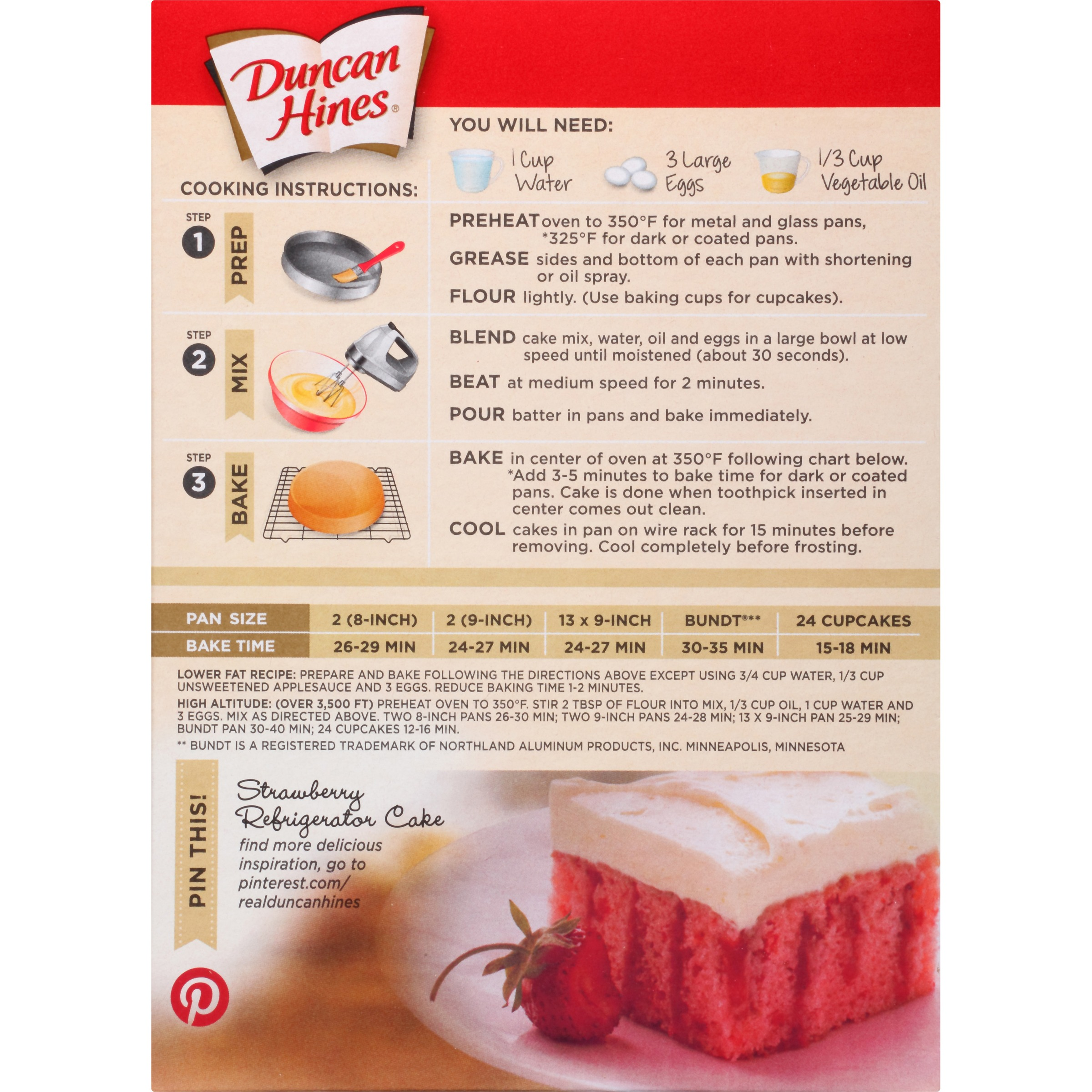 Duncan Hines Strawberry Supreme Cake Mix Recipes