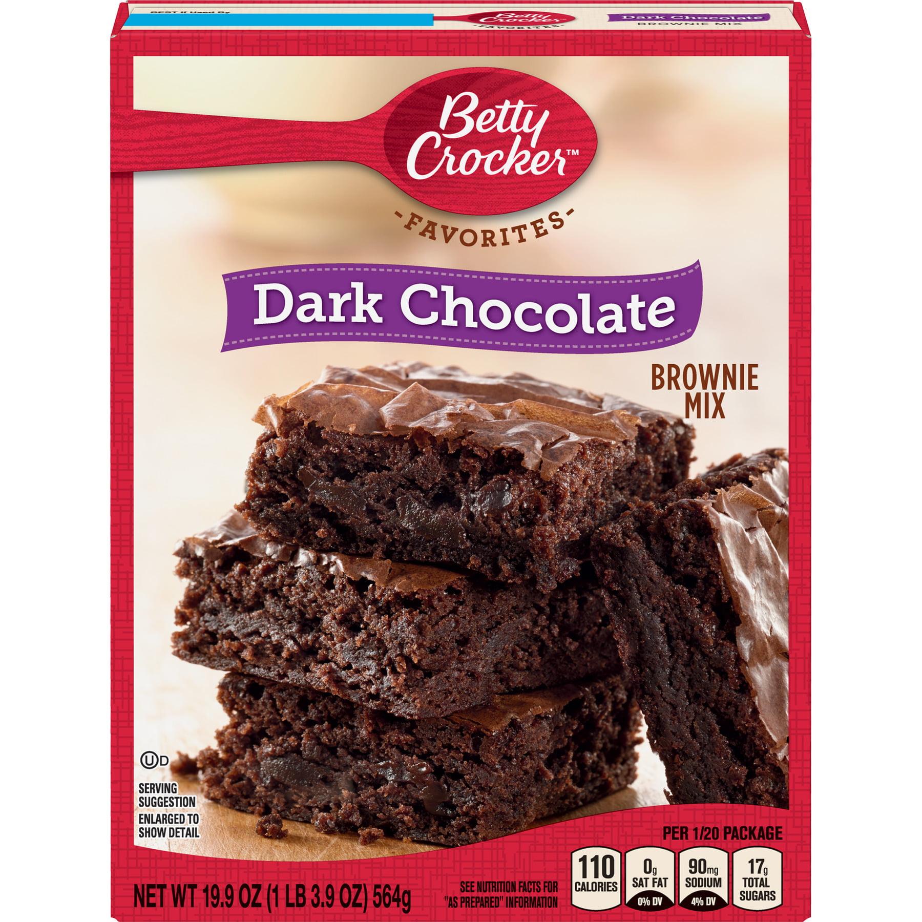 Betty Crocker Dark Chocolate Brownie Mix Family Size, 19.9 oz