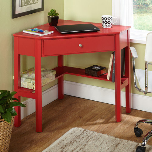Ellen Corner Writing Desk Red Walmart Com