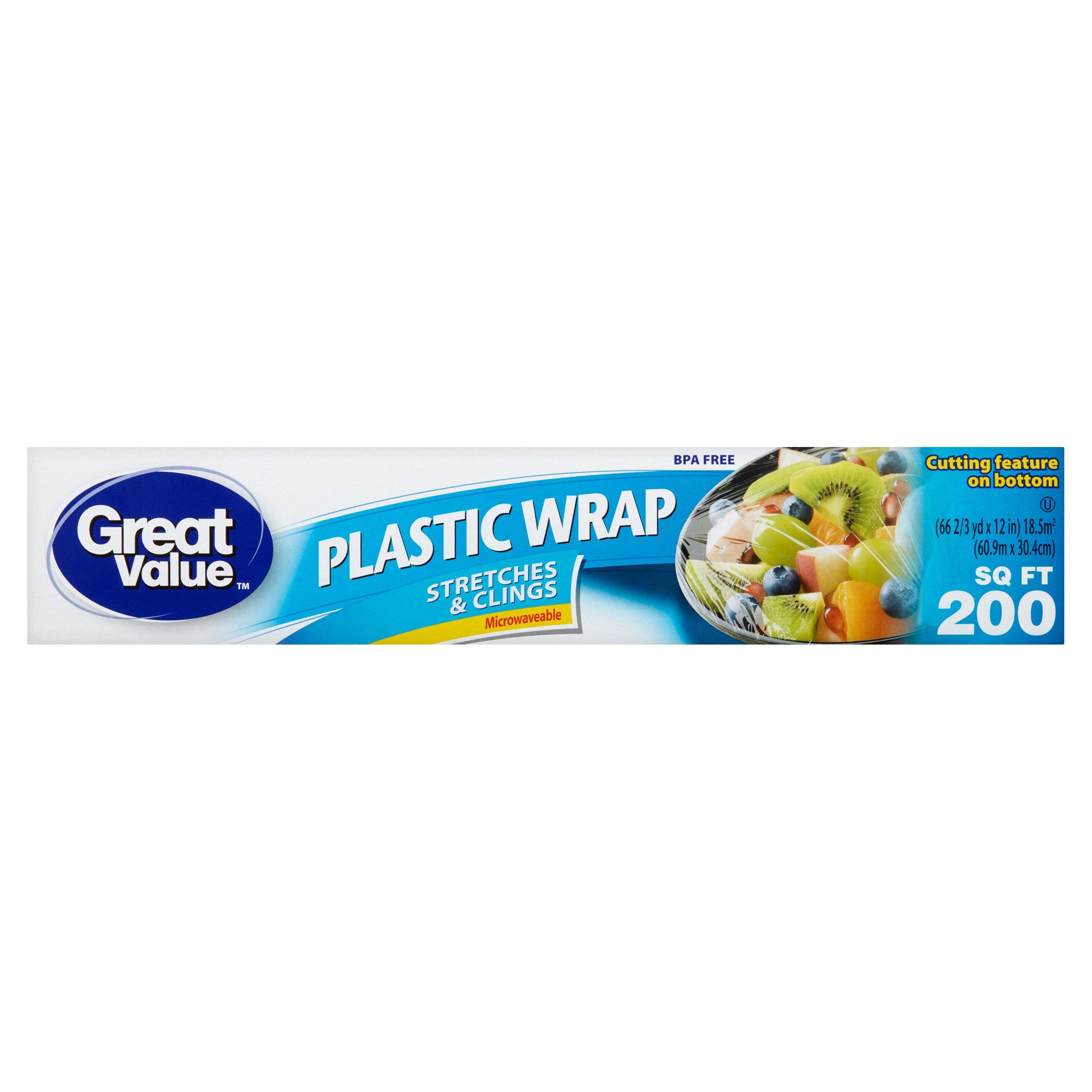 Great Value Plastic Wrap, 200 sq ft