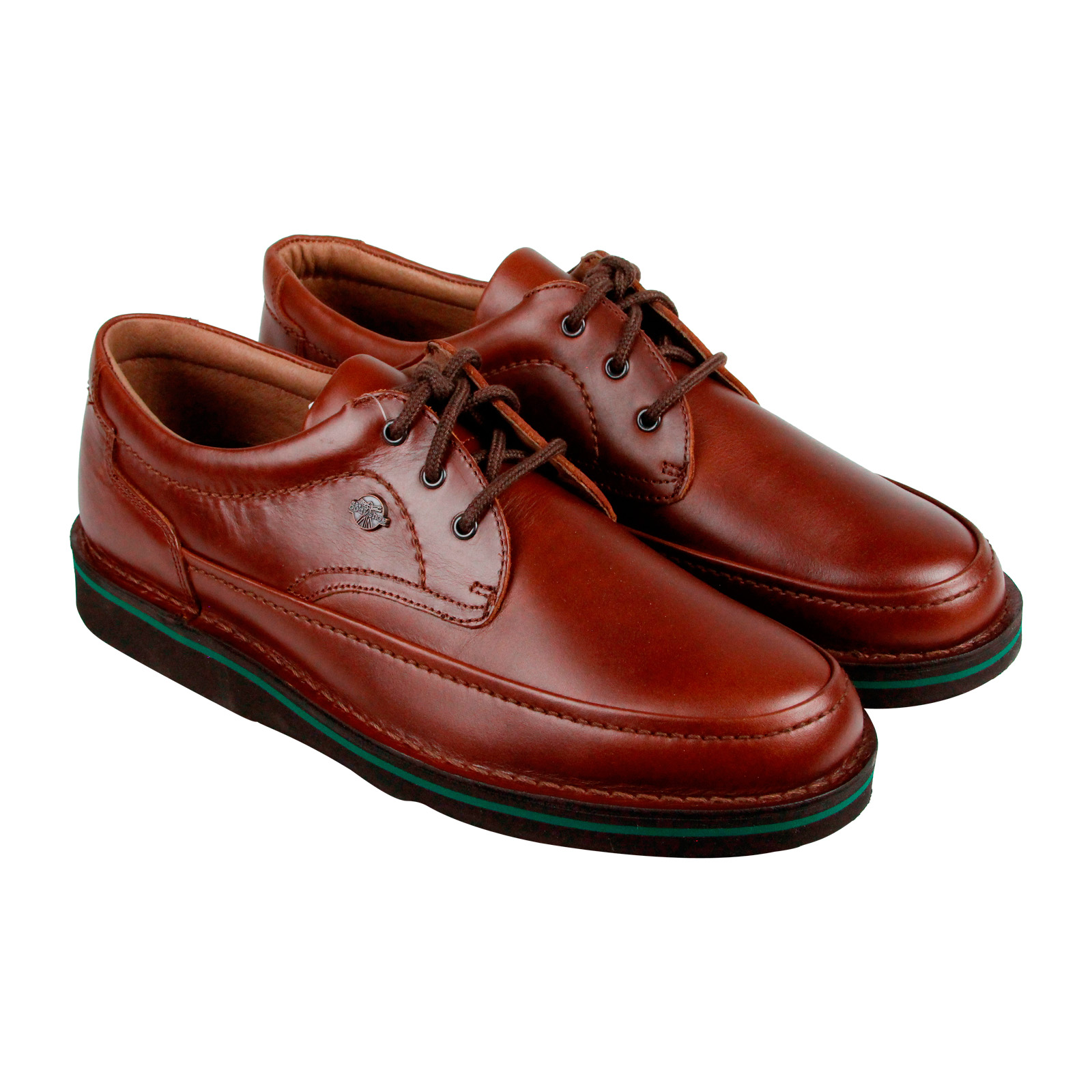 Hush Puppies Mall Walker Mens Brown Leather Casual Dress Lace Up Boat Shoes Shoes by