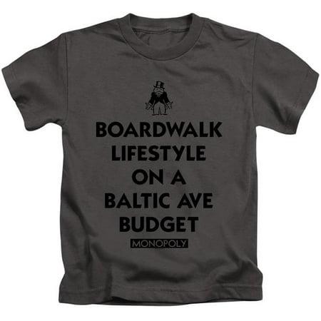 Trevco Sportswear HBRO306-KT-3 Monopoly & Lifestyle Vs Budget-Short Sleeve Juvenile 18-1 T-Shirt, Charcoal - Large 7