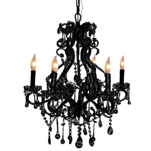 Pangea Home Isabella 6-Light Crystal Chandelier