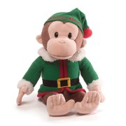 gund curious george elf holiday stuffed toy