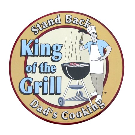 King Of The Grill Dad's Cooking Funny BBQ Tin Metal Sign Yard Patio Garage Decor