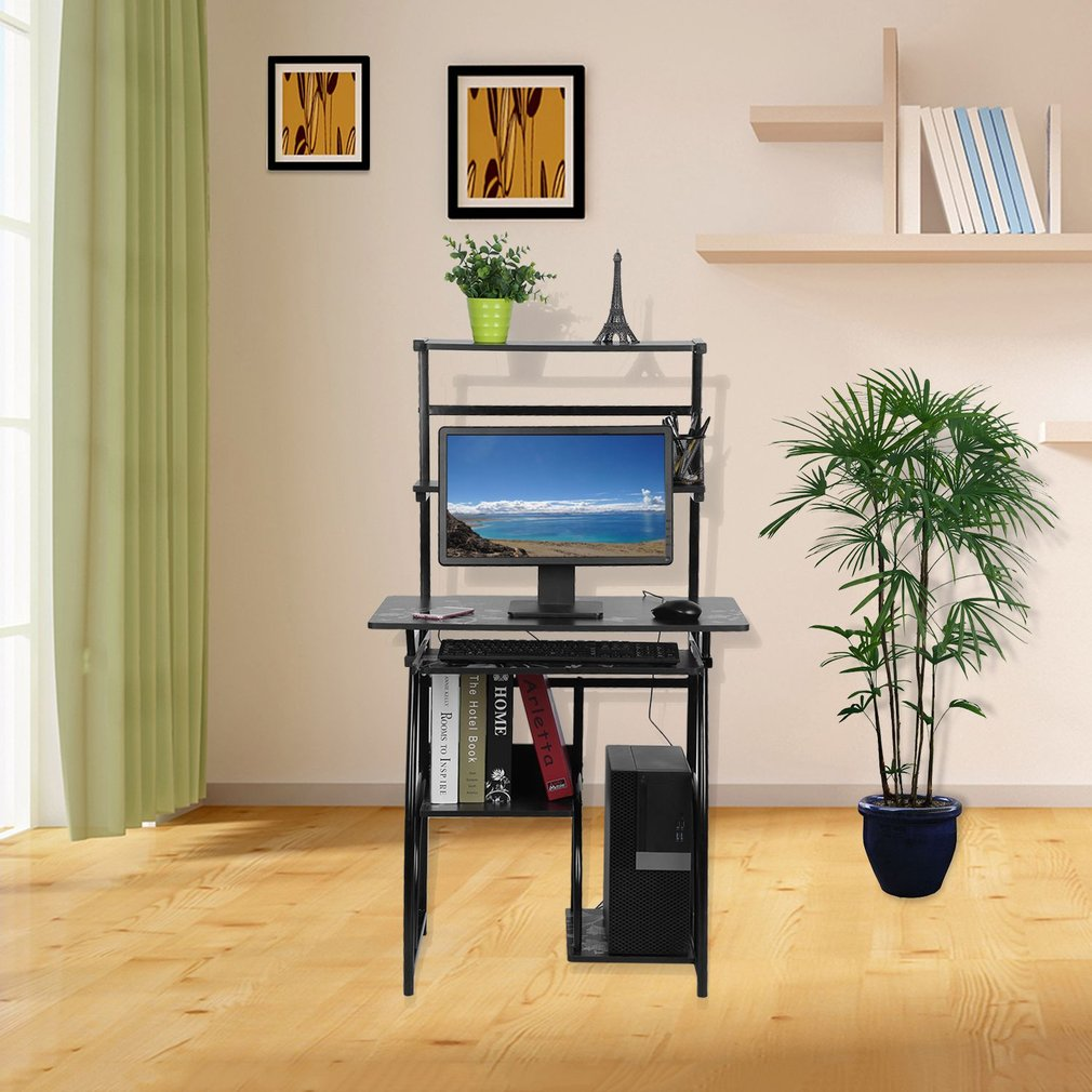 Computer Desk For Home, Computer Desk With Keyboard Tray Fashionable  Environmental Protecting Home Computer Desk