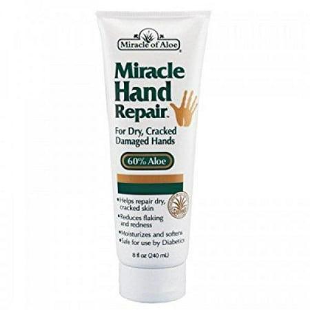 Miracle Aloe Hand Cream (Miracle of Aloe Hand Repair Cream 8 oz. 60% UltraAloe)