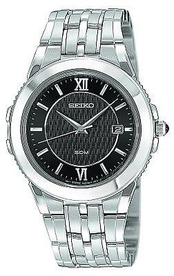 Seiko Skk637 Mens Stainless Steel Le Grand Sport Black Dial Quartz Watch