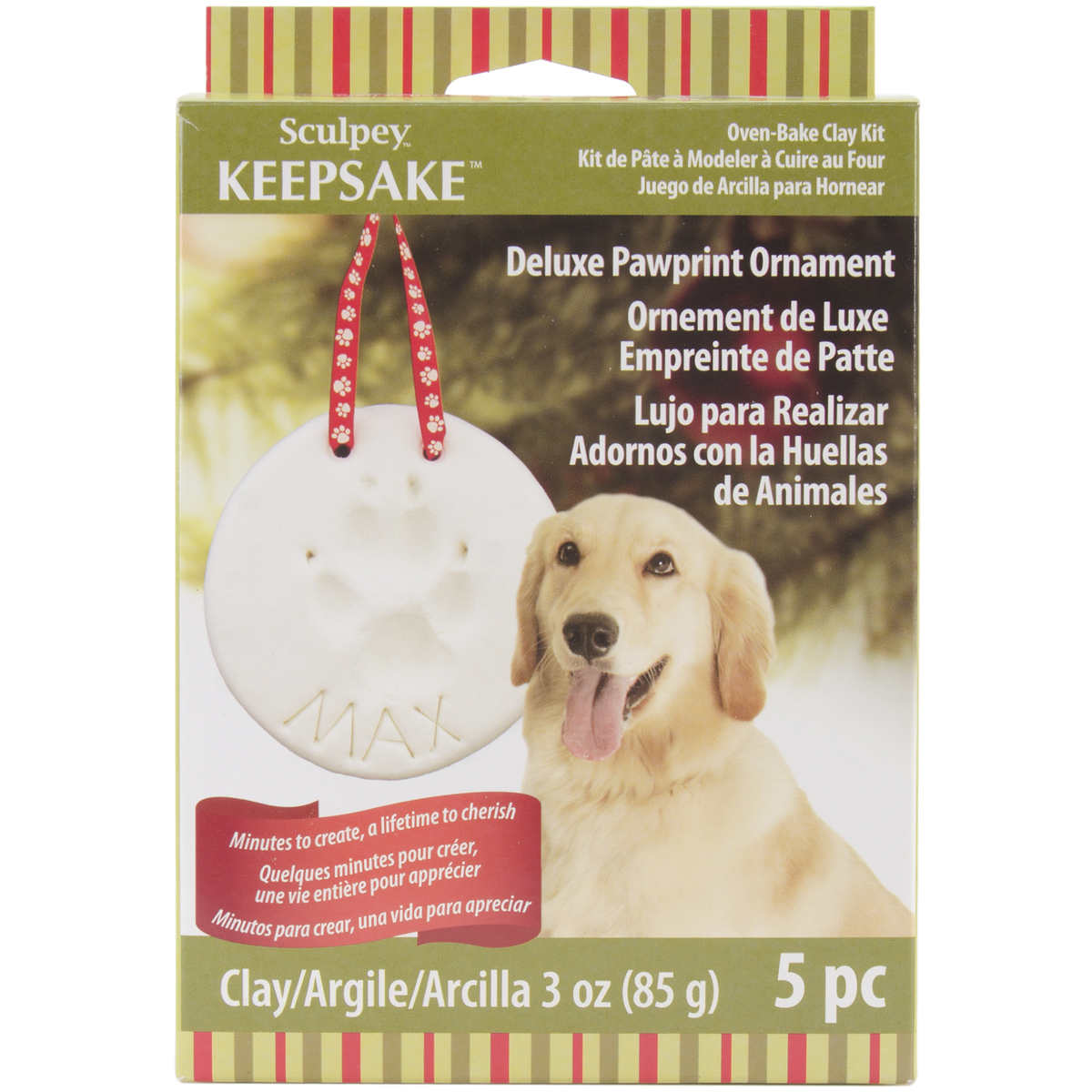 Sculpey Keepsake Pawprint Ornament Kit