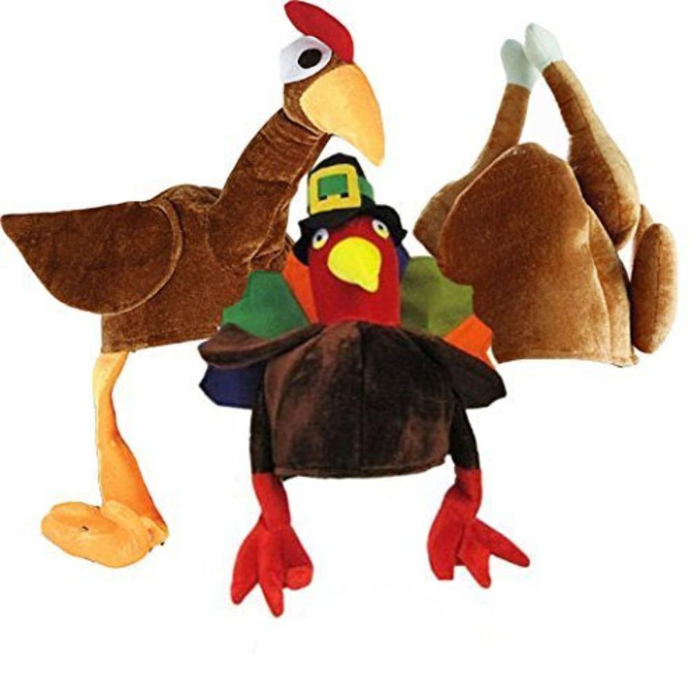 New Turkey Hat Lights Up Has Gobble Gobble with picture of Turkey on it.