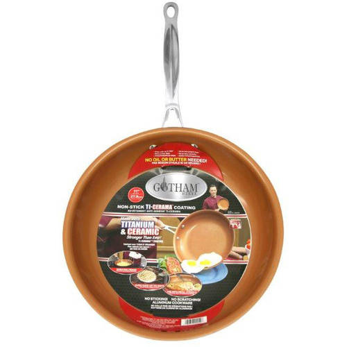 Gotham Steel Ceramic and Titanium Nonstick Fry Pan 11""