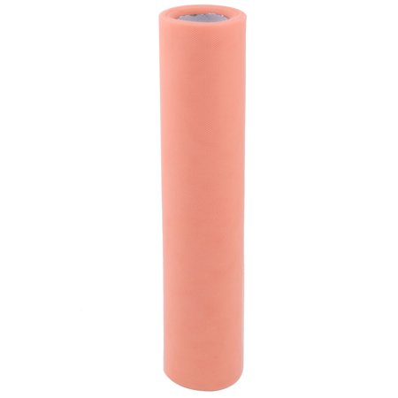 "12"" x 25 yd Spool Shiny Tulle Roll for Tutu Craft,Coral Pink - image 4 de 4"