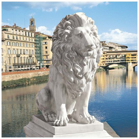 Design Toscano Lion of Florence Sentinel (Stone Lion Statue)