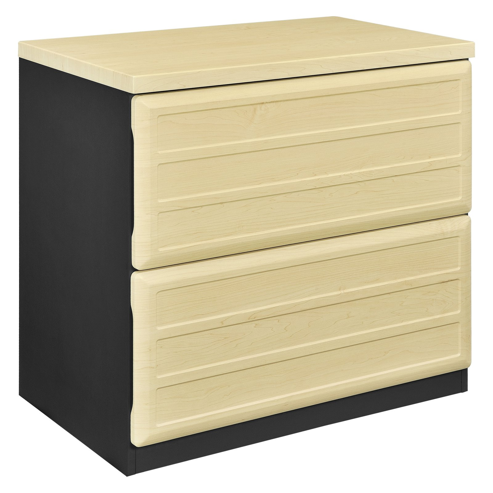 Ameriwood Home Pursuit Lateral File Cabinet, Light Brown/Gray