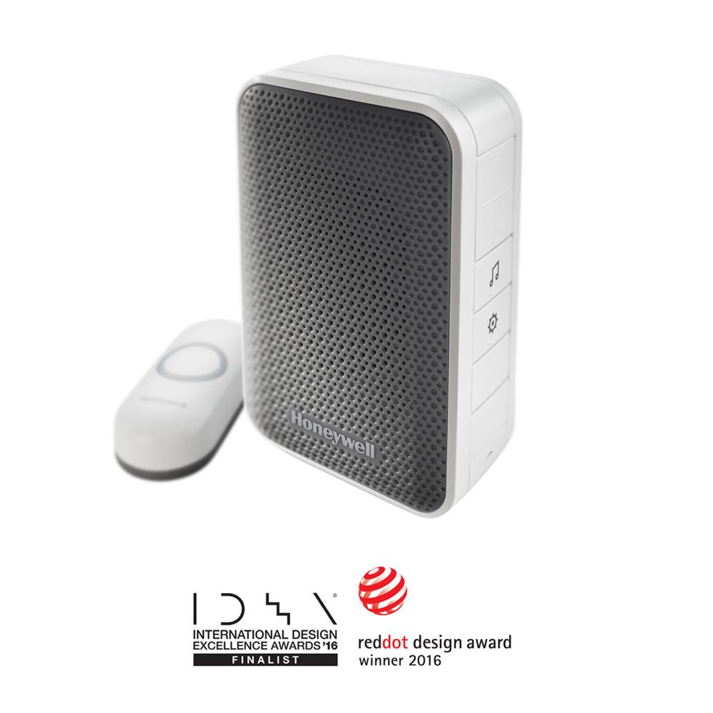 Honeywell 3 Series Portable Wireless Doorbell & Push Button, White