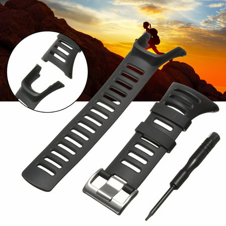 Soft Black Rubber Silicone Watchband Watch Band Strap Replacement For SUUNTO AMBIT 3 PEAK/Ambit 2/Ambit 1