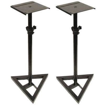 Seismic Audio  – Pair of Steel Monitor or Amp Stands Adjustable NEW Pro Audio Black – SR06-2PK