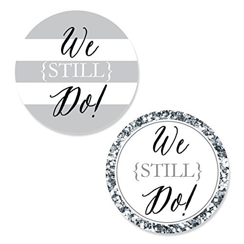 We Still Do - Wedding Anniversary - DIY Shaped Party Cut-Outs - 24 Count