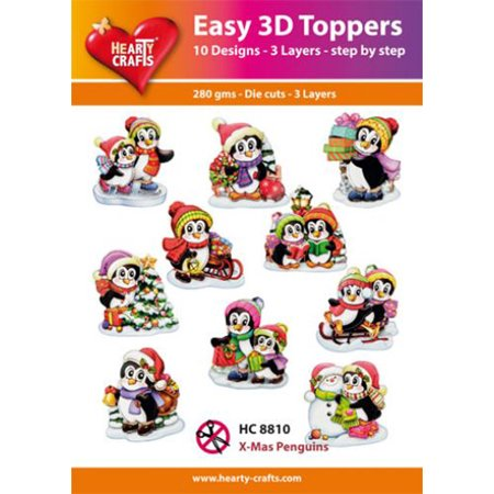 Hearty Crafts Easy 3D Christmas Penguins