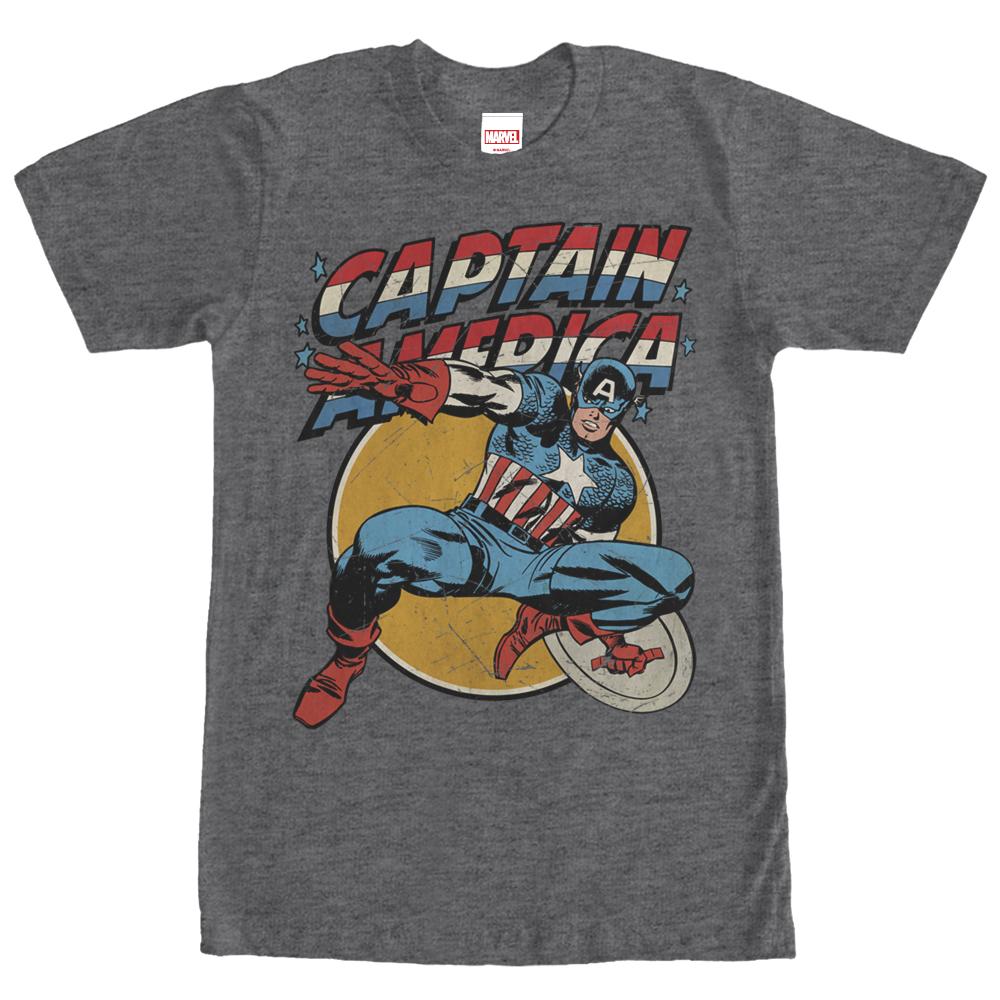 Marvel Men's Captain America Shield T-Shirt