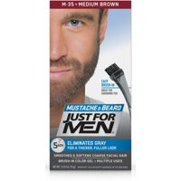 Just For Men Mustache And Beard, Facial Hair Color Gel, M-35 Medium Brown