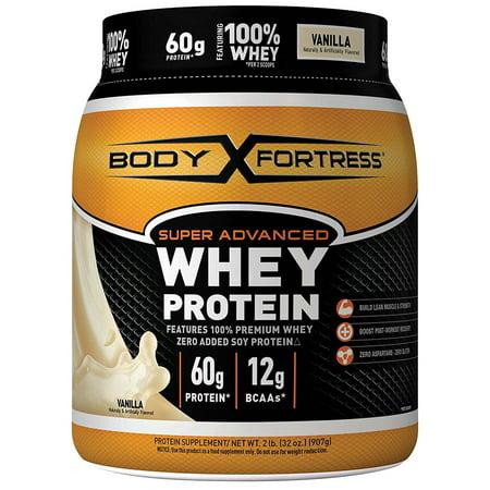 Body Fortress Super Advanced Whey Protein Powder, Vanilla, 60g Protein, 2 (Best Whey Protein Flavor)