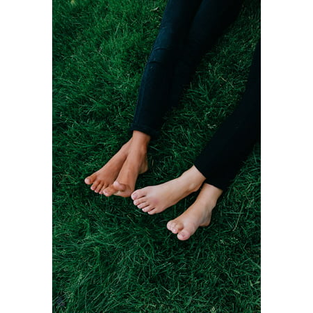 Canvas Print Summer People Nature Best Friends Grass Feet Legs Stretched Canvas 10 x