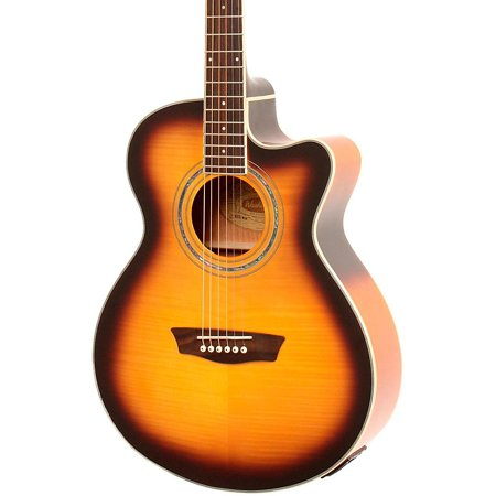 Sunburst Flame Maple Top (Washburn Festival EA15A Spruce Top With Flame Maple Veneer Acoustic Cutaway Electric Guitar With 4-Band EQ Tobacco Sunburst)