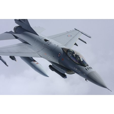 Lockheed Martin F 16 Fighting Falcon Of The Norwegian Air Force Poster Print