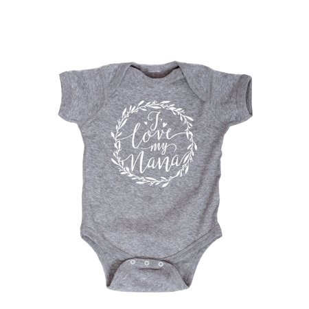 Baby Boy Script (I Love My Nana Script Floral Wreath  - Infant One)