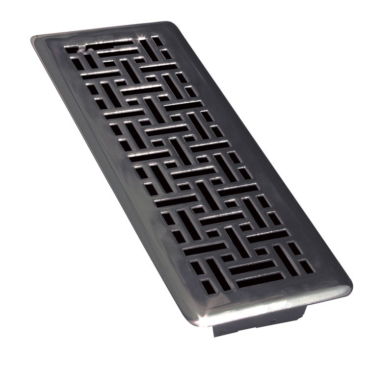 "Ta Industries Modern Contempo Floor Register Modern 4 "" X 10 "" Matte Black"