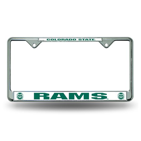 Colorado State Rams Chrome Metal License Plate (State Metal License Plate)