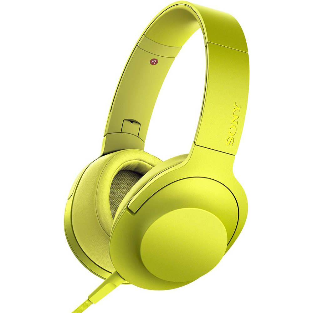 Sony MDR100AAP Premium Hi-Resolution Stereo Over-Ear Headphones - Lime Yellow