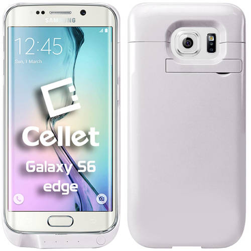 Cellet 3200mAh Rechargeable External Battery Case for Samsung Galaxy S6 edge, White