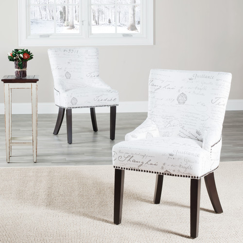 This button opens a dialog that displays additional images for this product with the option to zoom in or out. & Darby Home Co York Genuine Leather Upholstered Dining Chair (Set of ...