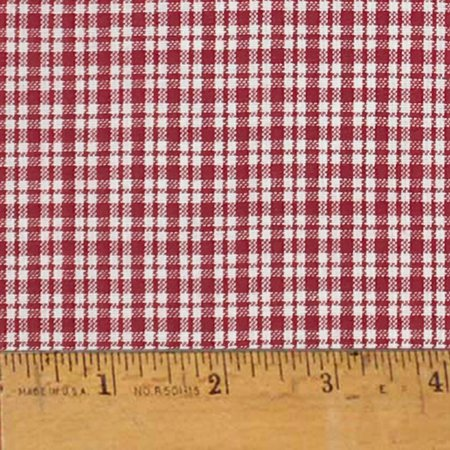 Liberty Red 2 Plaid Christmas Homespun Cotton Fabric Sold by the Yard - JCS Fabric
