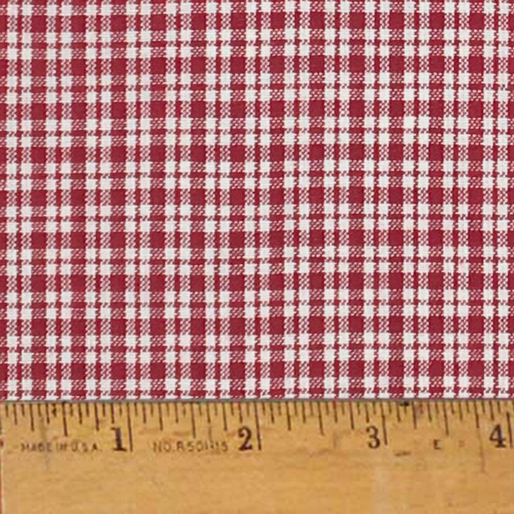Liberty Red 2 Plaid Christmas Homespun Cotton Fabric Sold by the Yard - JCS Fabric