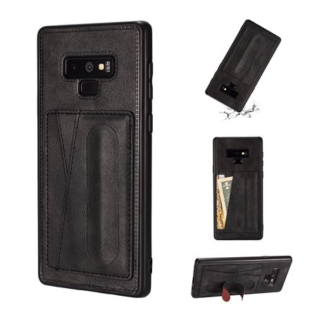 Note 9 Case Wallet, Galaxy Note 9 Cases Covers, Allytech Ultra Slim Fit Lightweight Stand Shockproof Wireless Charging Support Cards Slots Wallet Case Back TPU Cover for Samsung Galaxy Note 9,