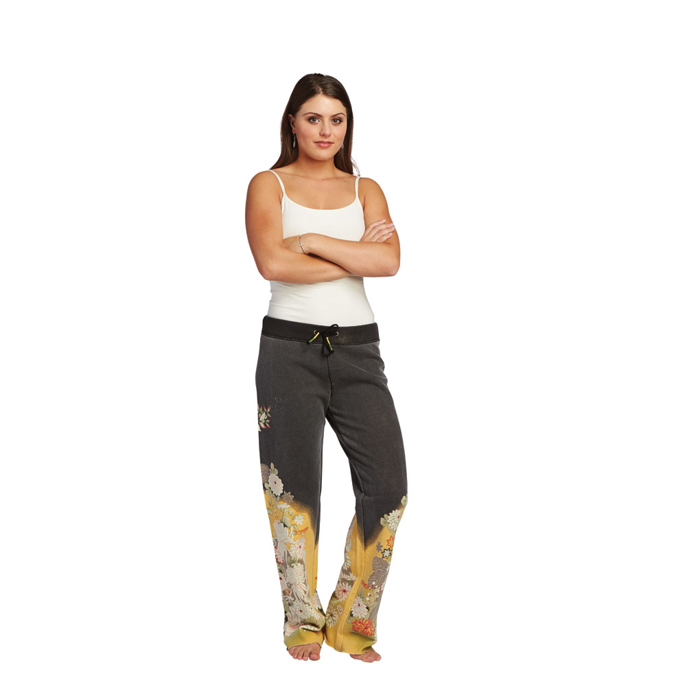 Women's Asian Print Lounge Sweatpants - 100% Cotton
