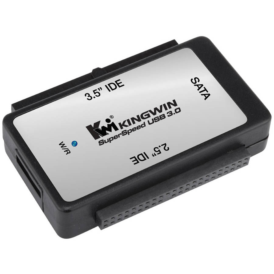 "USB 3.0 to SATA and IDE Adapter for 2.5"" and 3.5"" Hard Drives"