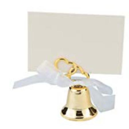 Wedding Bell Favors (Gold Wedding Bell Favor, Wedding Placecard Holder (3)