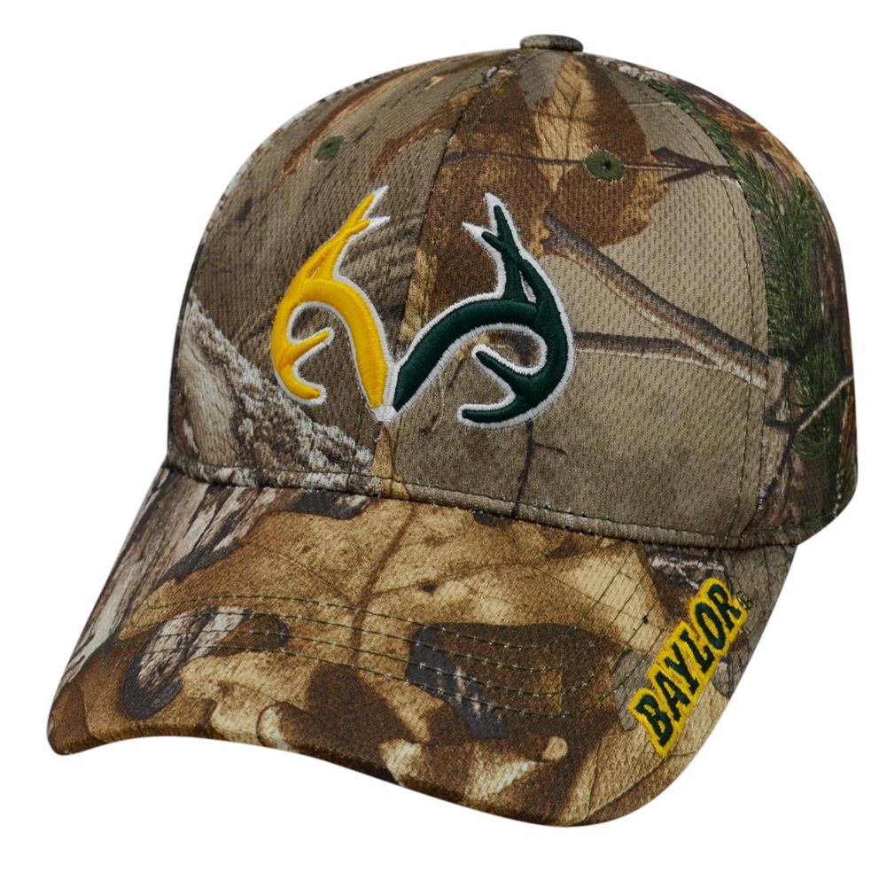hot sale online 857f6 e9f03 Realtree Logo Baylor University Bears Camo Hat Stretch One Fit - Walmart.com