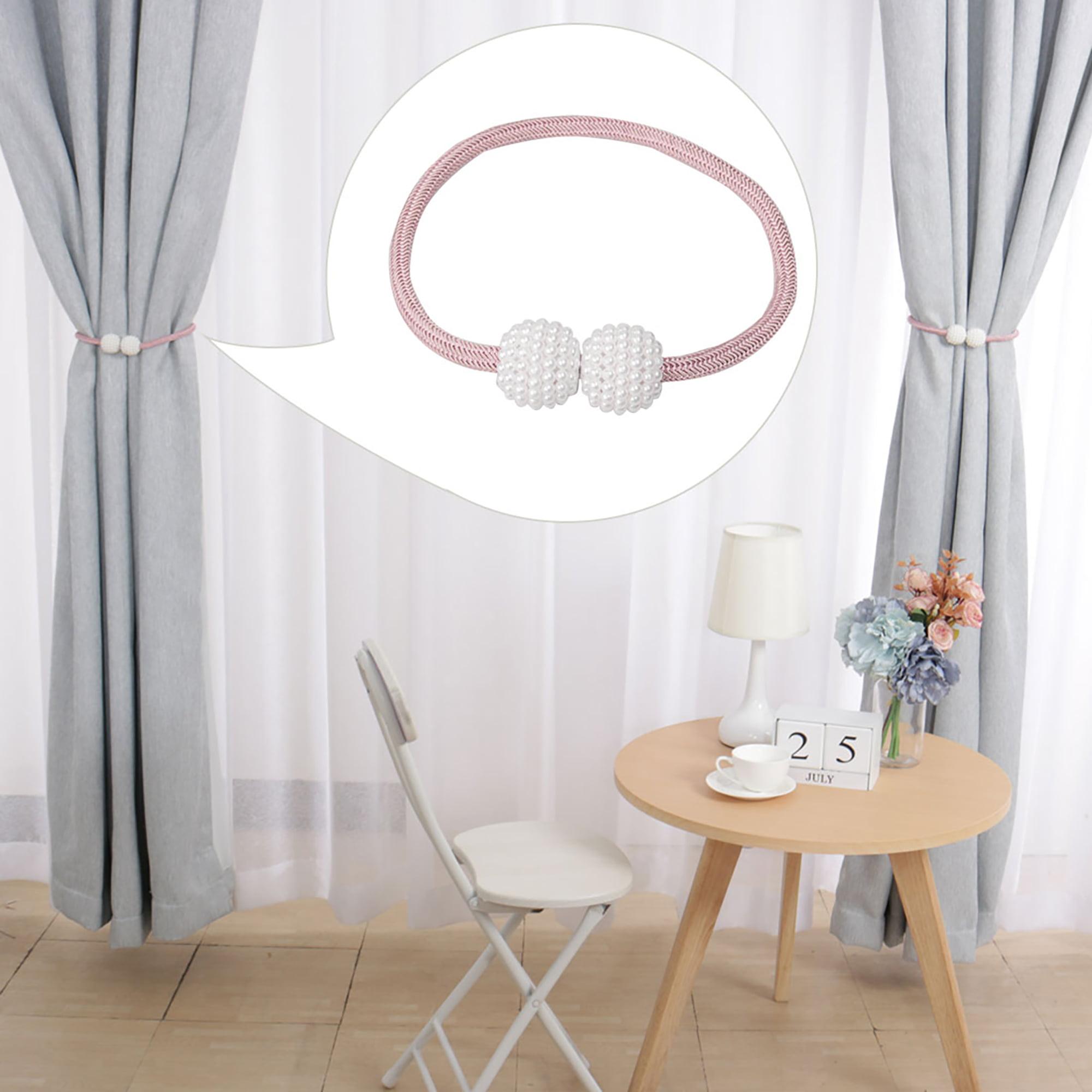 bedroom CHENILLE BRAIDED ROPE TIEBACKS dining curtains lounge PAIR
