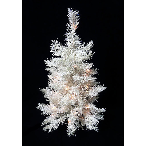 Darice 2' Snow White Artificial Christmas Tree with 50 Clear Light