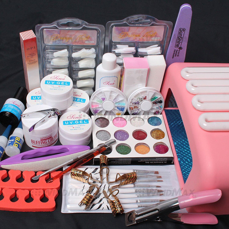 Professional 26in1 Nail Art Tips UV Builder Gel Brush 36W...