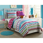 VCNY Abby Multi-Colored Reversible Ice Cream Kids Bedding Comforter Set